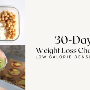 30-DAY WEIGHT LOSS CHALLENGE | Food Prepping for Success