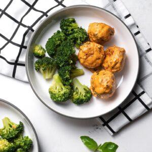 Keto Recipe - Chicken Meatballs with Tomato Cream Sauce