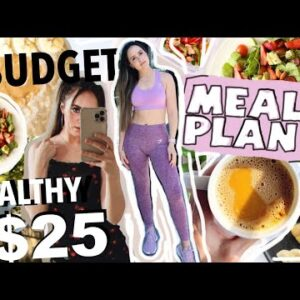 $25 tight budget HEALTHY MEAL PLAN FOR 1 WEEK **save $$$** (meal prep, cheap & affordable recipes)