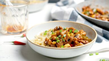 Keto Kung Pao Chicken Recipe [Takeout Style]