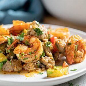 Keto Shrimp and Sausage Skillet Recipe