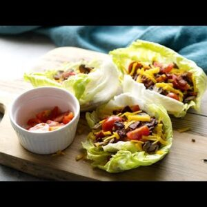 Keto Cheeseburger Lettuce Wraps [Easy & Satisfying Low-Carb Meal]