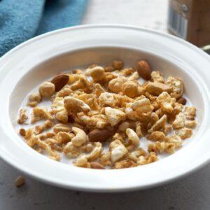 Keto Cereal Recipe [Salted Caramel Pork Rinds!?]