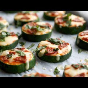 Keto Mini Zucchini Pizzas [Delicious Appetizer or Snack]